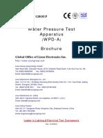 Water Pressure Test Apparatus