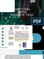 Additional notes magnetic field