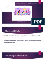Social media, waste of time or an important communication media