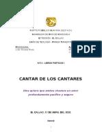 CANTAR DE CANTARES