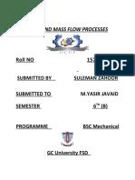 heat and mass flow process 1