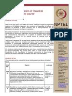 NPTEL course