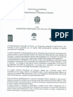 Protocol Lo Intesa Comune Pesaro