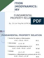 Fundamental property relation