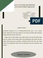 PPT Peran dan Fungsi Apoteker dibidang Industri Farmasi.pptx