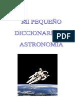 mi pequeño diccionario de astronomia