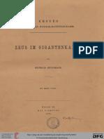 Heydemann, H (H. Schenck) Zeus im Gigantenkampf (Hallesches Winckelmannsprogramm 1)