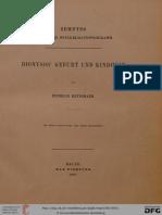 Heydemann, H. Dionysos' Geburt und Kindheit (Hallisches Winckelmannsprogramm 10)