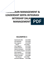 Integrasi manajer dan leader ship