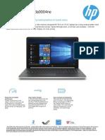 hp laptop data sheet