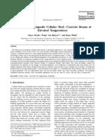 Behaviour of Composite Cellular Steel - Concrete Beams at Elevated Temperatures