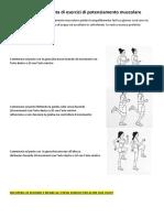 seconda sequenza esercizi di di potenziamento muscolare ginnastica dolce