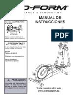 Manual elíptica