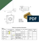 Tableau des opérations élémentaires et ordre des opérations