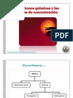 Disoluciones y las Diferentes Medidas de su Concentración