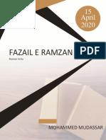 Fazail e Ramzan - Roman Urdu - By Mohammed Mudassar