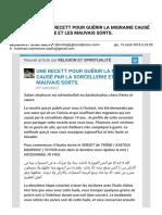 Gmail - [Nouvel article] UNE RECETT POUR GUÉRIR LA MIGRAINE CAUSÉ PAR LA SORCELLERIE ET LES MAUVAIS SORTS..pdf