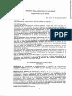 Decreto Reglamentario N 941-2010-S