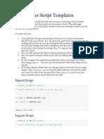 Data Mover Script Templates