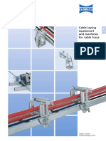 278 Cable laying equipment for cable trays