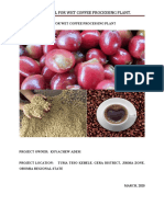 wet coffee processing business plan