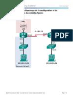 Travaux pratiques _ dépannage de la configuration et du placement des listes de contrôle d'accès Topologie