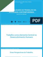 1 - A centralidade do Trabalho na Sociedade Contemporânea