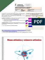 MODULO QUIMICA GRADO 10 - 1P - MASA ATOMICA Y NUMERO ATOMICO