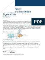Noise Analysis of Precision Data Acquisition Signal Chain