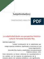 Subjetividad(es) ULTIMA CLASE