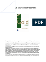 Cae gold plus coursebook teacher's book