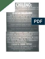 Ficha declaraciones gremiales en El Mercurio