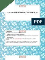Programa de capacitación 2020
