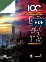 Informe de Gestión Completo 100 Días Alcaldía de Bogotá