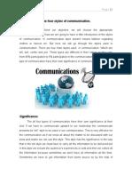Styles of Communication