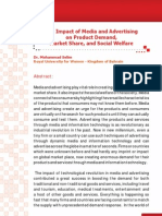 The Impact of Media and Advertising on Product Demand, Market Share, and Social Welfare