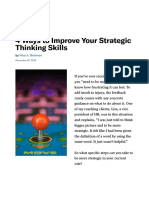 4 Ways to Improve Your Strategic Thinking Skills