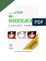 El Proceso de Investigacion 2000 Carlos Sabino