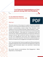 The Effect of Internet Connectedness on Civic Engagement among UAE Arab Residents
