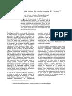 Algunos postulados básicos del conductismo de B.F. Skinner