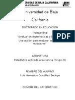 Act. Final - Evaluar en matemáticas y lenguaje. Una acción para mejorar  la calidad educativa Luis Hdo. 2