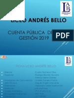 Cuenta Pública 2019 - Liceo Andrés Bello - San Miguel