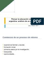 Pensar la educación secundaria en Argentina 2017-Prof. Natalia Diaz