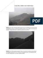 Morfologia Del Cerro San Cristobal