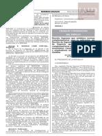 Decreto Supremo N.° 011-2020-TR