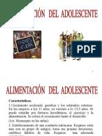 ALIMENTACIÓN DEL ADOLESCENTE  2009