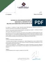 Décision Bank Al Maghrib_49W20