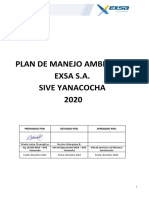 Plan de Manejo ambiental 2020