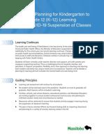 Response Plan K-12