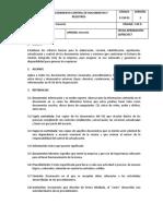 P-CM-01 Procedimiento Control de Documentos y Registros V2